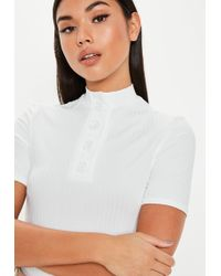 b7fcb7e134397e Missguided Oversized T-shirt Dress With Bralette Twinset in White - Lyst