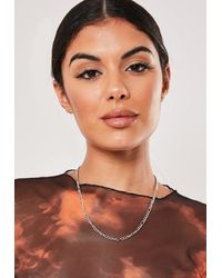 Missguided Silver Look Twist Chain Necklace - Metallic