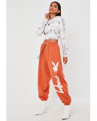 Missguided X Orange Super Oversized Jumbo Joggers