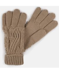 Missguided Cable Knit Gloves - Natural