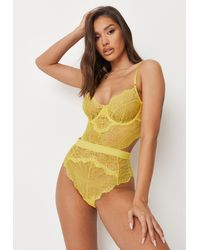 Missguided Ann Summers Hold Me Tight Babydoll - Yellow