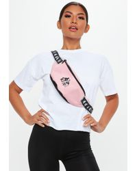 Missguided - Pink Kappa Fanny Pack - Lyst
