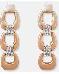 Missguided Look Link Drop Earrings - Metallic