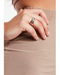 Missguided - Mixed Metal Heart Bands Ring Pack - Lyst