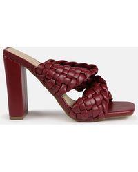 Missguided - Sandalen mit Blockabsatz und gewebten Riemen - Lyst