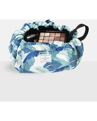 Missguided The Flat Lay Co Tropical Makeup Bag - Blue