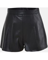 Missguided Faux Leather Shorts - Black