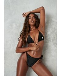 Missguided X Black Triangle Bikini Set