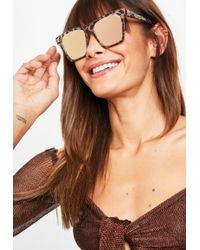 Missguided - Quay Australia X Tortoise/gold Revo Gold Alright Sunglasses - Lyst