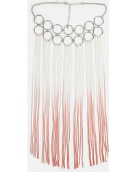 Missguided - Silver Ring Detail Ombre Tassel Necklace - Lyst