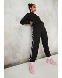 Missguided Disney Villains Taped Joggers - Black