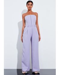 Missguided Lilac Super High Waisted Wide Leg Trousers - Purple