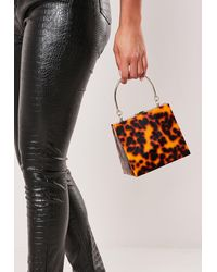 Missguided Brown Leopard Print Triangular Bag - Multicolor