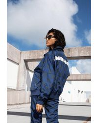Missguided - Umbro X Navy Oversized Batwing Track Top - Lyst