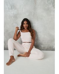Missguided - Co Ord Cosy Knitted Joggers - Lyst