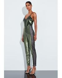 Missguided Green Embellished Strappy Romper