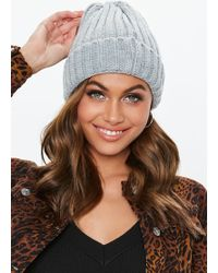 cf1477e0c24 Lyst - Missguided Pom Pom Knitted Hat Speckled Multi