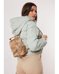 Missguided Nude Mini Backpack - Natural