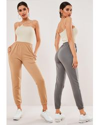 Missguided And Charcoal Two Pack Jogger Set - Grey