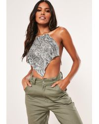 e36917205f389 Lyst - ASOS Asos Pack Of 2 Statement Chainmail Bralette Top And Fine ...