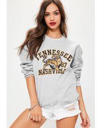 Missguided | Tennessee Nashville Sweatshirt Grey | Lyst