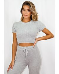 Missguided Cozy T Shirt - Gray