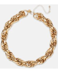 Missguided Gold Look Chain Twist Necklace - Metallic