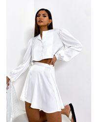 Missguided - Co Ord Satin Wrap Mini Skirt - Lyst