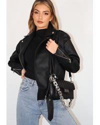 Missguided Black Quilted Shoulder Bag
