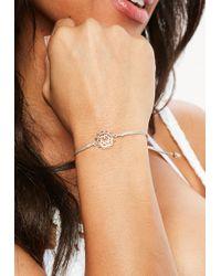 Missguided   Gold Heart Bracelet   Lyst