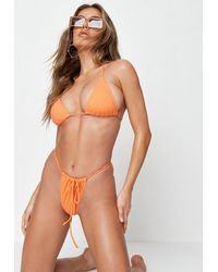 Missguided Orange Itsy Bitsy Bikini Bottoms