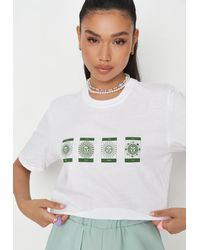 Missguided - Celestial Graphic Crop Top - Lyst