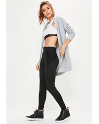 Missguided - Active Black Fishnet Side Sports Leggings - Lyst