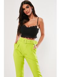 Missguided Black Strappy Lace Trim Bralet