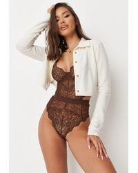 Missguided Ann Summers Hold Me Tight Nude Chocolate Babydoll - Brown