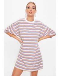 Missguided - Lilac Oversized Not Interested Slogan T-shirt - Lyst