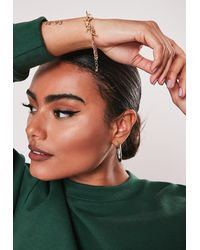 Missguided Gold Look Barb Wire Bracelet - Metallic