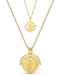 Missoma Gold Coin Story Necklace Set - Multicolor