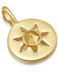 Missoma Citrine November Birthstone Pendant - Metallic