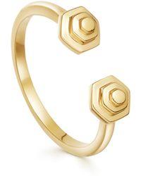 Missoma - Gold Rhea Dual Hexi Ring - Lyst