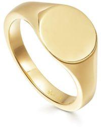 Missoma Gold Round Signet Ring - Metallic