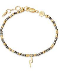 Missoma - Beaded Pyrite Illume Bracelet - Lyst
