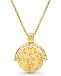 Missoma Lucy Williams X Solid Hinged Coin Necklace - Metallic