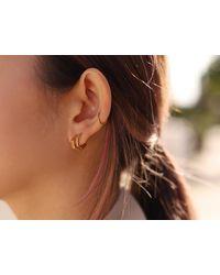 Missoma - Gold Hex Stack Earring Set - Lyst