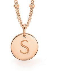 Missoma - Rose Gold S Initial Necklace - Lyst