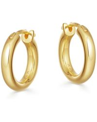 Missoma Gold Mini Tunnel Hoops - Multicolor
