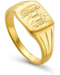 Missoma - Lucy Williams X Square Coin Signet Ring - Lyst