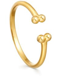 Missoma - Lucy Williams X Open Beaded Cuff Ring - Lyst