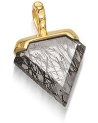 Missoma - Black Rutilated Quartz Mini Shield Pendant - Lyst