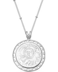 Missoma - Silver Lucy Williams Rising Sun Medallion Necklace - Lyst